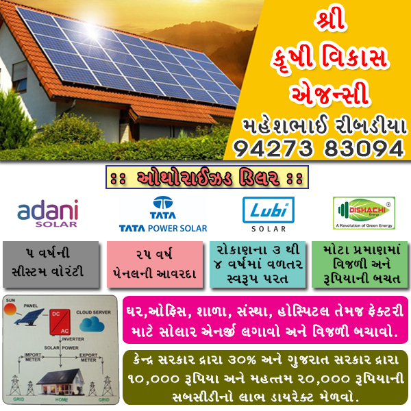 Tachukdi - SOLAR PRODUCTS in Visavadar