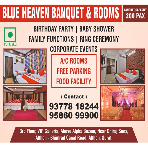 Party Plot / Marriage Hall in Surat | Tachukdi Ad (www.tachukdiad.com)